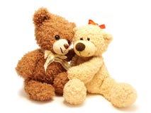 Romantische teddy-beren royalty-vrije stock afbeeldingen