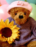 Romantische teddybear royalty-vrije stock foto
