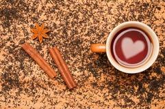 Romantische Tee-Zeit lizenzfreie stockbilder