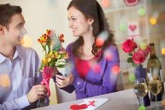 Romantische tijd Stock Foto's
