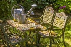 Romantische tuinlijst Royalty-vrije Stock Foto