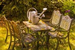 Romantische tuinlijst Stock Afbeeldingen