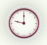 Romantische Uhr stock abbildung