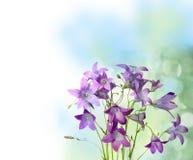 Romantische uitstekende klokbloemen Stock Foto's