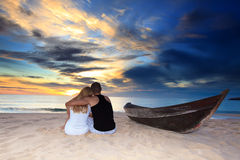 Romantische unbewohnte Insel lizenzfreie stockfotos