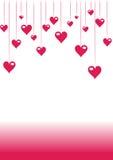 Romantische valentijnskaart roze achtergrond Royalty-vrije Stock Afbeeldingen