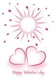 Romantische valentijnskaartachtergrond Royalty-vrije Stock Afbeelding