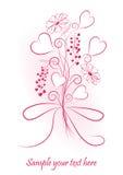 Romantische valentijnskaartachtergrond Stock Foto