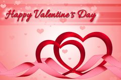 Romantische Valentinsgruß ` s Herzen Stockfotografie