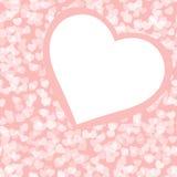 Romantische Valentinsgrußhintergrundschablone Lizenzfreie Stockbilder