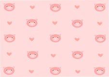 Romantische varkensachtergrond Royalty-vrije Stock Foto's