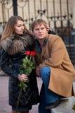 Romantische vergadering royalty-vrije stock afbeeldingen