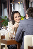 Romantische vergadering Stock Foto's