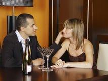 Romantische vergadering Stock Afbeeldingen