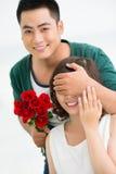 Romantische verrassing stock afbeelding