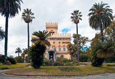 Romantische Villa - Italiaanse Riviera Royalty-vrije Stock Afbeeldingen