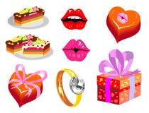 Romantische voorwerpen Royalty-vrije Stock Afbeelding