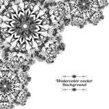 Romantische waterverfkaart met bloemen royalty-vrije illustratie