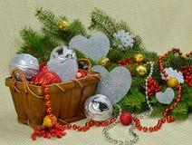 Romantische Weihnachtszusammensetzung Stockbilder