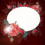 Romantische Weinlese Rose Frame Lizenzfreie Stockbilder