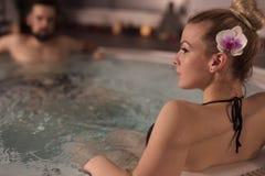 Romantische wellnessvreugde Royalty-vrije Stock Afbeeldingen