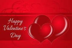 Romantische zwei Valentinsgrußherzen Stockfotografie