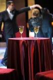 Romantischer Abend in der Gaststätte Stockfoto
