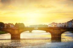 Romantischer Abend der Kunst in Florenz Italien stockfotografie
