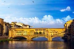 Romantischer Abend der Kunst in Florenz Italien stockbilder