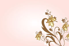 Romantischer Blumen-Hintergrund Stockfoto