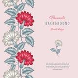 Romantischer Blumenhintergrund stock abbildung