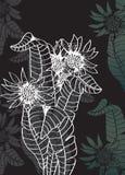 Romantischer Blumenhintergrund Stockfotos