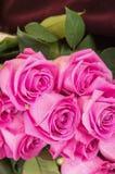 Romantischer Blumenstrauß von ekuadorianischen rosa Rosen Lizenzfreie Stockfotos
