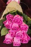 Romantischer Blumenstrauß von ekuadorianischen rosa Rosen Stockfotografie