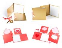Romantischer Designsatz Zu für Postkarten verwendet werden, Einladungen, Karte Lizenzfreies Stockbild