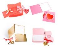 Romantischer Designsatz Zu für Postkarten verwendet werden, Einladungen, Karte Lizenzfreies Stockfoto