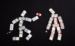 Romantischer Domino Stockfoto