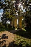 Romantischer englischer Park, Schloss Lednice stockfoto