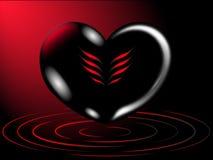 Romantischer Hintergrund des Herzens Lizenzfreie Stockfotografie