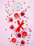 Romantischer Hintergrund des Valentinstags lizenzfreie stockbilder
