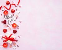 Romantischer Hintergrund des Valentinstags stockfoto