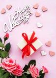 Romantischer Hintergrund des Valentinstags stockfotografie