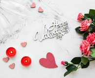 Romantischer Hintergrund des Valentinstags stockfotos