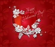 Romantischer Hintergrund für Valentinsgrußtag Lizenzfreies Stockfoto
