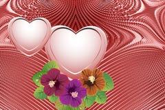 Romantischer Hintergrund, Valentinstag Stockfotografie