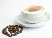 Romantischer Kaffee Stockfotos