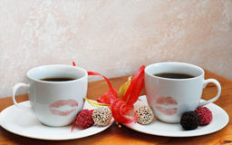 Romantischer Kaffee Lizenzfreies Stockbild