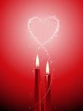 Romantischer Kerzehintergrund Stockfotos