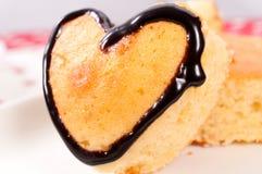 Romantischer Kuchen Stockfotos