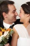 Romantischer Kuss Stockfoto